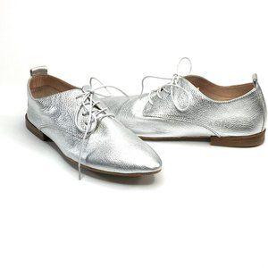 Latigo Women's Shoes Metallic Silver Oxfords 6